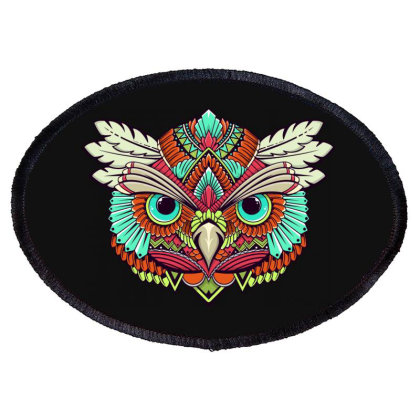 Owl Oval Patch Designed By Estore