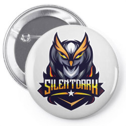 Silent Dark owl Pin-back button | Artistshot