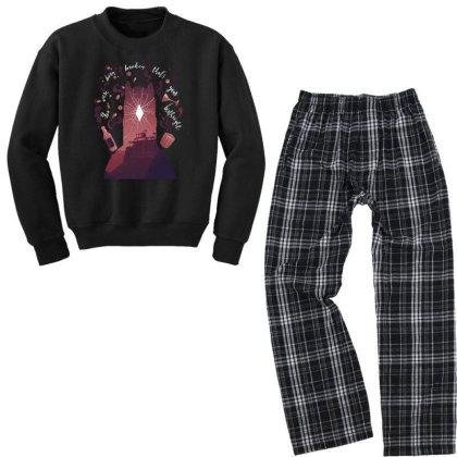 You Were Born Broken Youth Sweatshirt Pajama Set Designed By Alespedy