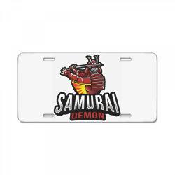 Samurai demon License Plate   Artistshot