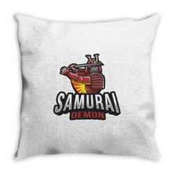 Samurai demon Throw Pillow   Artistshot