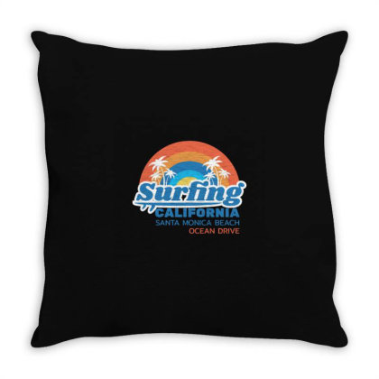 California Throw Pillow Designed By Disgus_thing