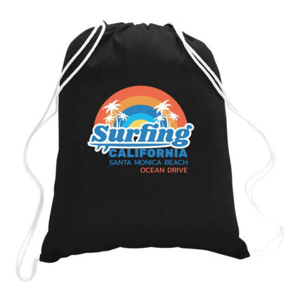 California Drawstring Bags Designed By Disgus_thing