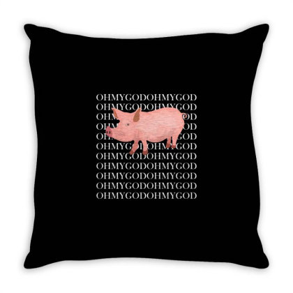 Shane Pig Oh My God Throw Pillow Designed By Redline77