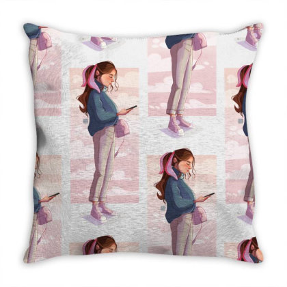 Phone Clouds Throw Pillow Designed By Adesignerlife