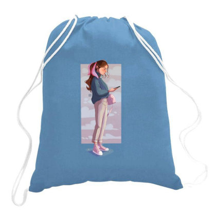 Phone Clouds Drawstring Bags Designed By Adesignerlife