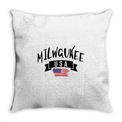 Milwaukee Throw Pillow Designed By Alececonello
