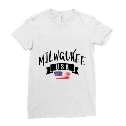 Milwaukee Ladies Fitted T-shirt Designed By Alececonello