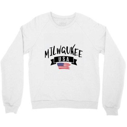 Milwaukee Crewneck Sweatshirt Designed By Alececonello