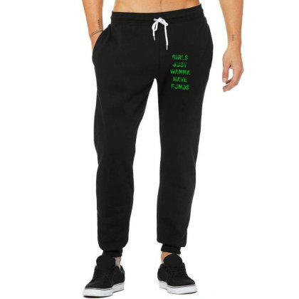 Girs Just Wanna Have Funds Unisex Jogger Designed By Sr88