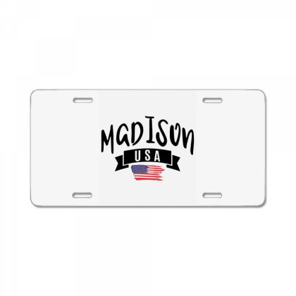 Madison License Plate Designed By Alececonello