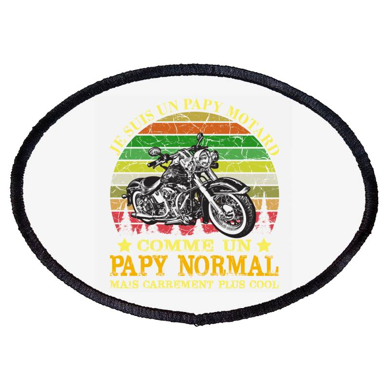 Papy Motard Oval Patch | Artistshot
