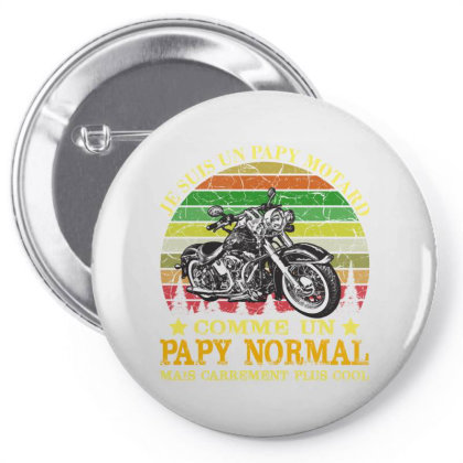 Papy Motard Pin-back Button Designed By Redline77
