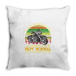 papy motard Throw Pillow | Artistshot