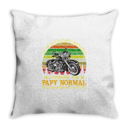 Papy Motard Throw Pillow Designed By Redline77