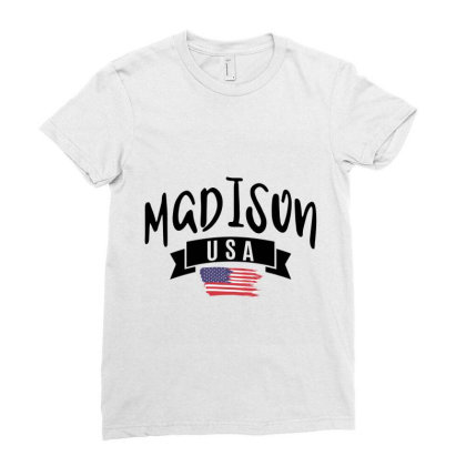 Madison Ladies Fitted T-shirt Designed By Alececonello