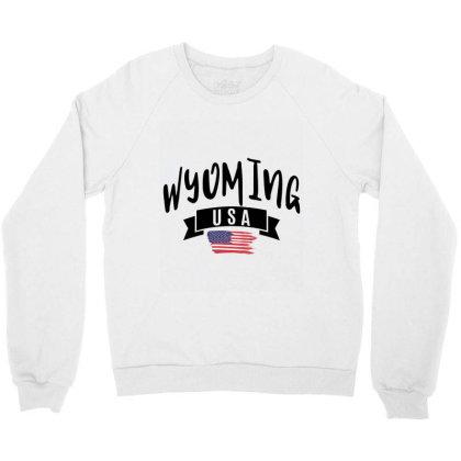 Wyoming Crewneck Sweatshirt Designed By Alececonello
