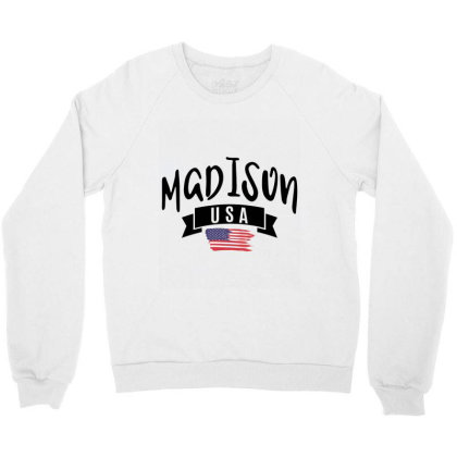Madison Crewneck Sweatshirt Designed By Alececonello