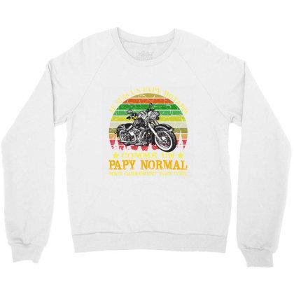 Papy Motard Crewneck Sweatshirt Designed By Redline77