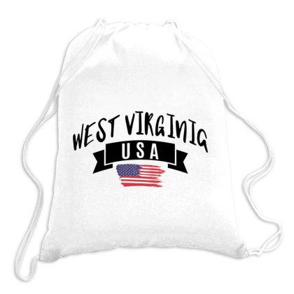 West Virginia Drawstring Bags Designed By Alececonello