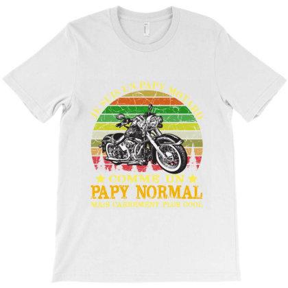 Papy Motard T-shirt Designed By Redline77