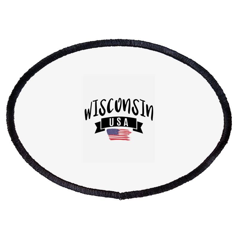 Wisconsin Oval Patch | Artistshot