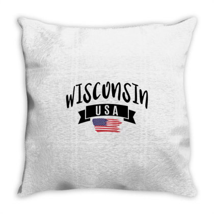 Wisconsin Throw Pillow Designed By Alececonello