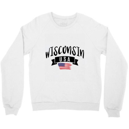 Wisconsin Crewneck Sweatshirt Designed By Alececonello