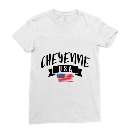 Cheyenne Ladies Fitted T-shirt Designed By Alececonello