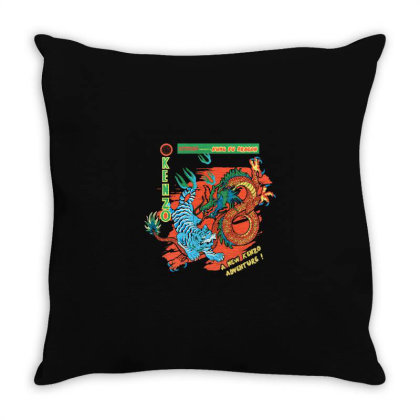 Kungfu Throw Pillow Designed By Disgus_thing