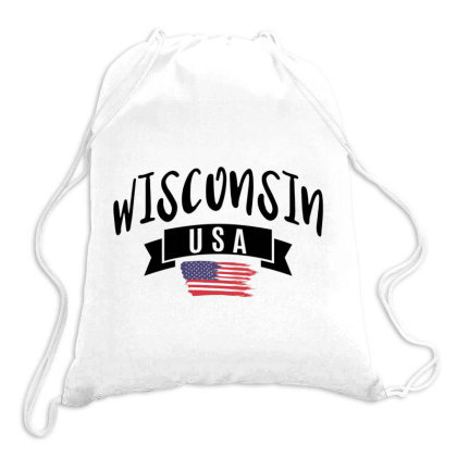 Wisconsin Drawstring Bags Designed By Alececonello