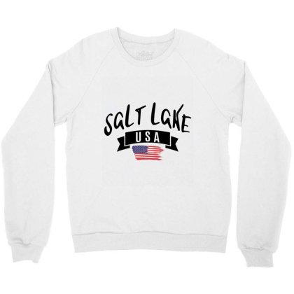 Salt Lake Crewneck Sweatshirt Designed By Alececonello