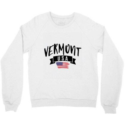 Vermont Crewneck Sweatshirt Designed By Alececonello
