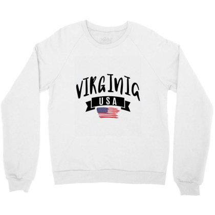 Virginia Crewneck Sweatshirt Designed By Alececonello