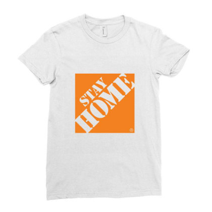 Stay Home Despot 1 Ladies Fitted T-shirt Designed By Sr88