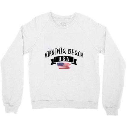 Virginia Beach Crewneck Sweatshirt Designed By Alececonello