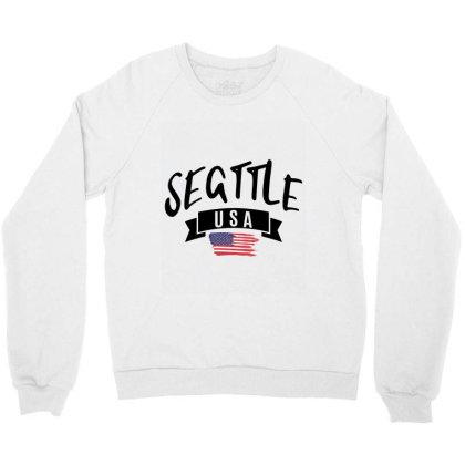 Seattle Crewneck Sweatshirt Designed By Alececonello