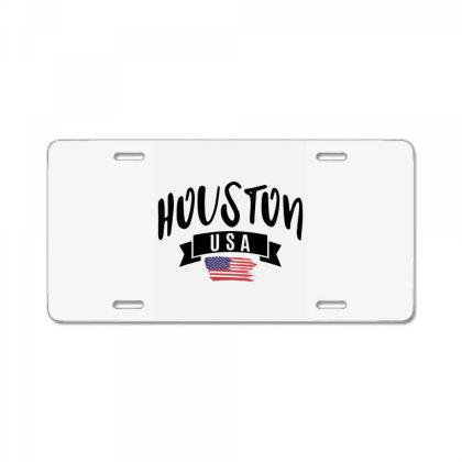 Houston License Plate Designed By Alececonello