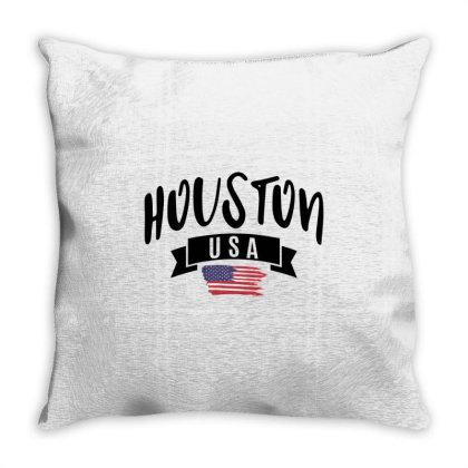 Houston Throw Pillow Designed By Alececonello