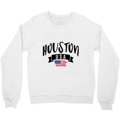 Houston Crewneck Sweatshirt Designed By Alececonello