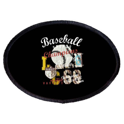 Baseball Oval Patch Designed By Disgus_thing