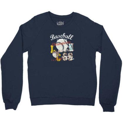 Baseball Crewneck Sweatshirt Designed By Disgus_thing