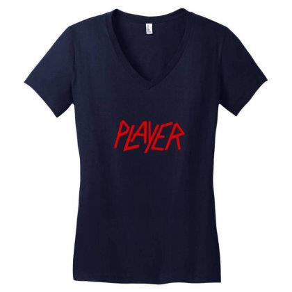Slayer Player Women's V-neck T-shirt Designed By Sr88