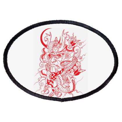 Skull Oval Patch Designed By Estore