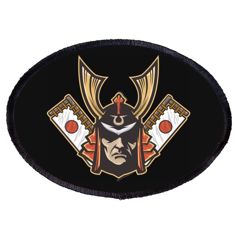 Samurai Oval Patch   Artistshot