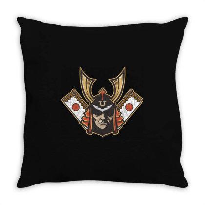 Samurai Throw Pillow Designed By Estore