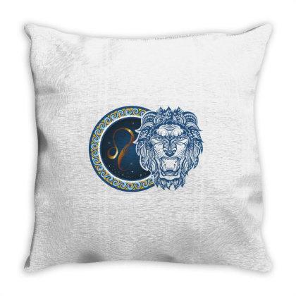 Horoscope Leo Throw Pillow Designed By Estore