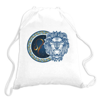 Horoscope Leo Drawstring Bags Designed By Estore