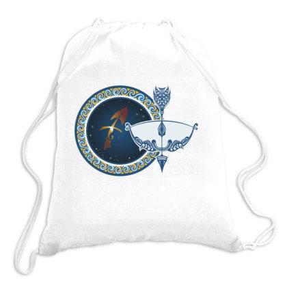 Horoscope Sagittarius Drawstring Bags Designed By Estore