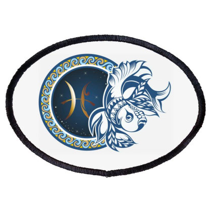 Horoscope Pisces Oval Patch Designed By Estore